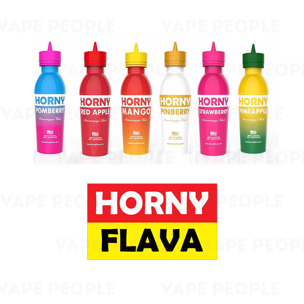 Horny Flava e-liquids (0mg, 3mg) - 50%VG, 55ml Short Fill