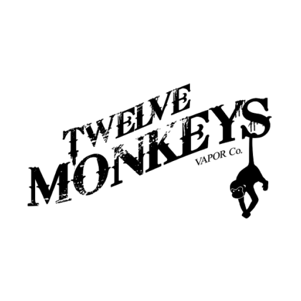 Twelve Monkeys e-liquids (0mg, 3mg, 6mg) - 65-90%VG, 10ml, 30ml, 50ml