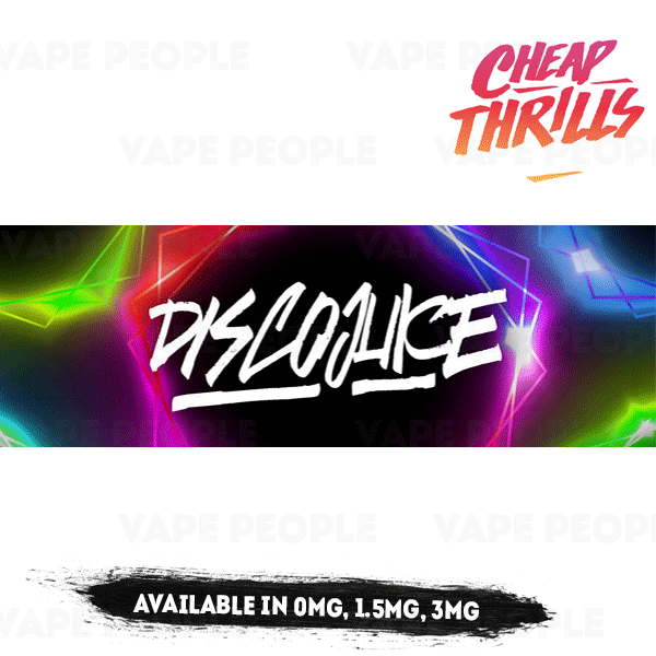 Disco Juice vape liquid - (0mg, 1.5mg, 3mg, 6mg) - 70%VG, 100ml Shortfills