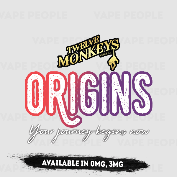 12 Monkeys: Origins vape liquids (0mg, 3mg, 6mg) - 65%VG, 50ml shortfills
