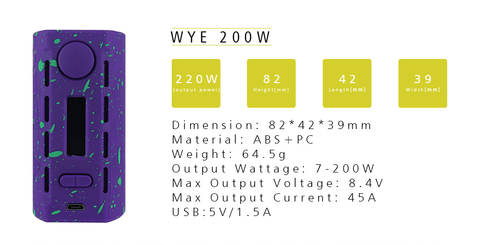 Tesla WYE 220W Box Mod e-cigarette e-cig from Vape People UK