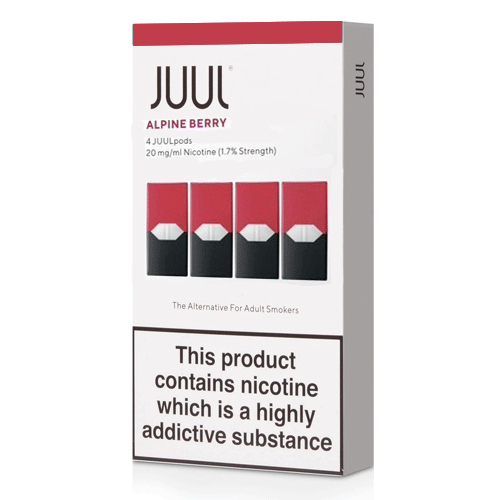 Alpine Berry vape liquid pods by Juul - 0.7ml x 4 - UK Authentic - Buy UK
