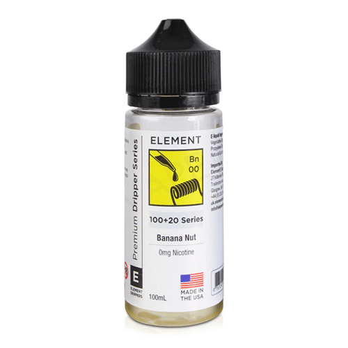 Banana Nut Dripper (Bn) vape liquid by Element E-liquids - 100ml Short Fill - Best E Liquids