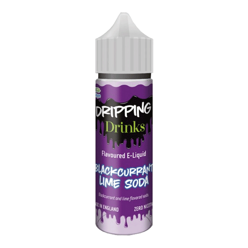 Blackcurrant Lime Soda vape liquid by Dripping Range - 50ml Short Fill - Buy UK
