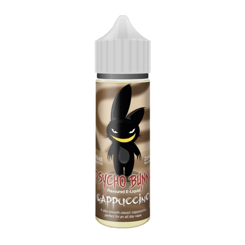 Cappuccino vape liquid by Psycho Bunny - 50ml Short Fill - Buy UK