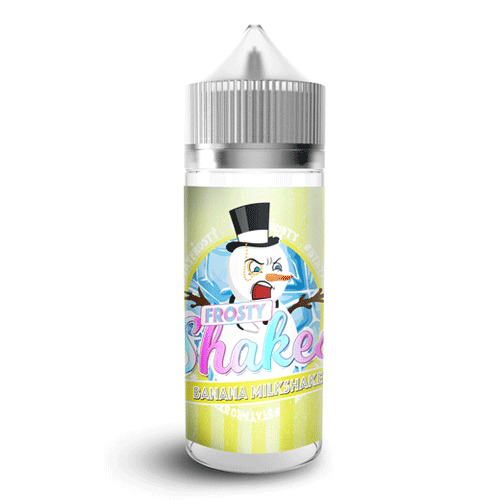 Frosty Shakes - Banana Milkshake vape liquid by Dr Frost - 100ml Short Fill - Buy UK