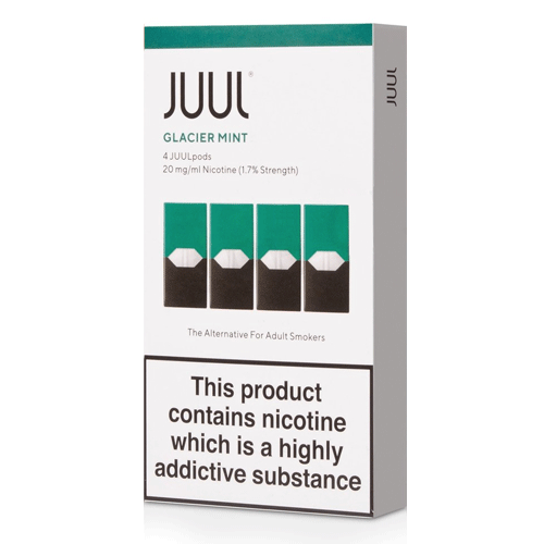 Glacier Mint vape liquid pods by Juul - 0.7ml x 4 - UK Authentic - Buy UK