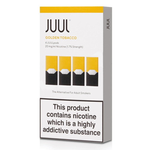 Golden Tobacco vape liquid pods by Juul - 0.7ml x 4 - UK Authentic - Buy UK