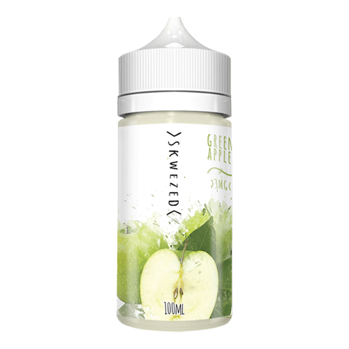 Green Apple vape liquid by Skwezed  - 100ml Short Fill - Buy UK