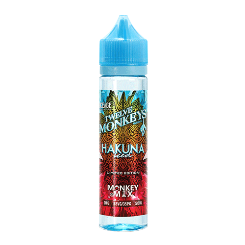 Hakuna Iced vape liquid by Twelve Monkeys: Ice Age Mix Series - 50ml Short Fill - Buy UK
