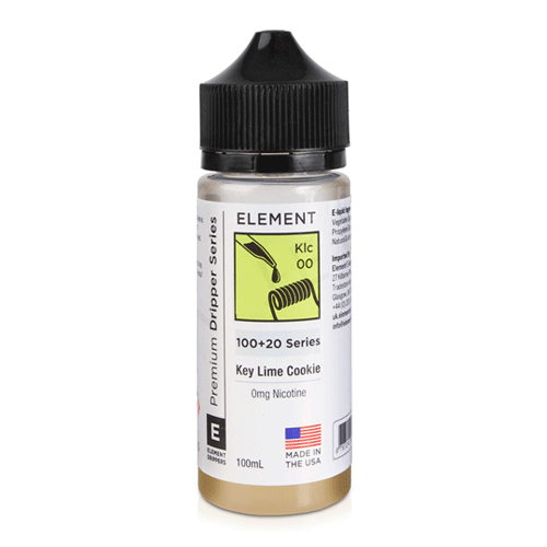 Key Lime Cookie (Klc) vape liquid by Element E-liquids - 100ml Short Fill - Buy UK