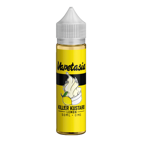 Killer Kustard Lemon vape liquid by Vapetasia - 50ml Short Fill