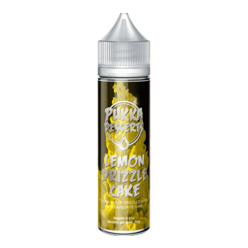 Lemon Drizzle Cake vape liquid by Pukka Juice Deserts- 50ml Short Fill - Buy UK
