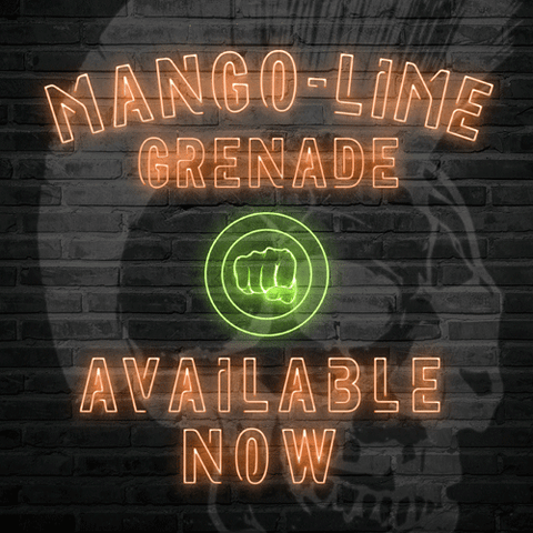 Mango-Lime Grenade vape liquid by Riot Squad's Punk Grenade - 50ml Short Fill - eJuice