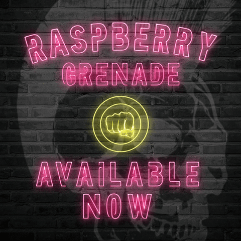 Raspberry Grenade vape liquid by Riot Squad's Punk Grenade - 50ml Short Fill - eJuice