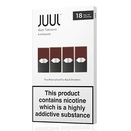 Rich Tobacco vape liquid pods by Juul - 0.7ml x 4 - UK Authentic