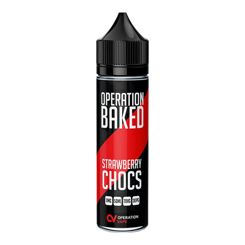 Strawberry Chocs vape liquid by Operation Baked - 50ml Short Fill - eJuice