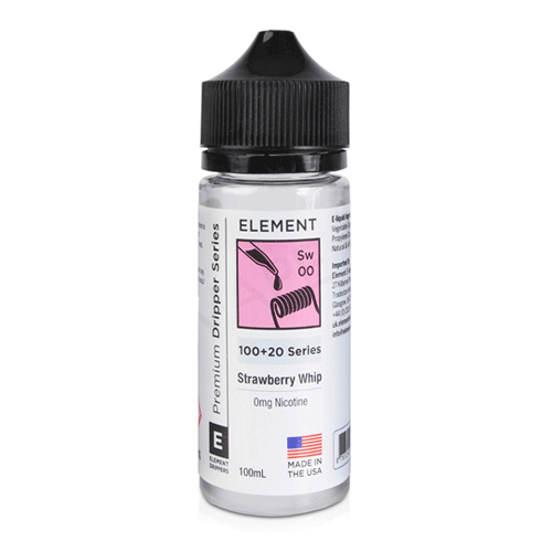 Strawberry Whip (Sw) vape liquid by Element E-liquids - 100ml Short Fill - eJuice