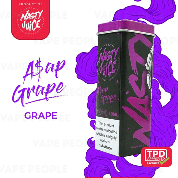 ASAP Grape vape liquid by Nasty Juice - 5 x 10ml - Buy UK