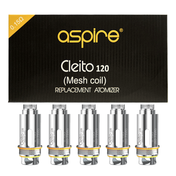 Aspire Cleito Mesh 120 Replacement Coils 0.15 Ohm (Pack of 5) - Buy UK