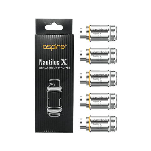Aspire Nautilus X Coils - 1.5 Ohm or 1.8 Ohm (5 Pack) - eJuice