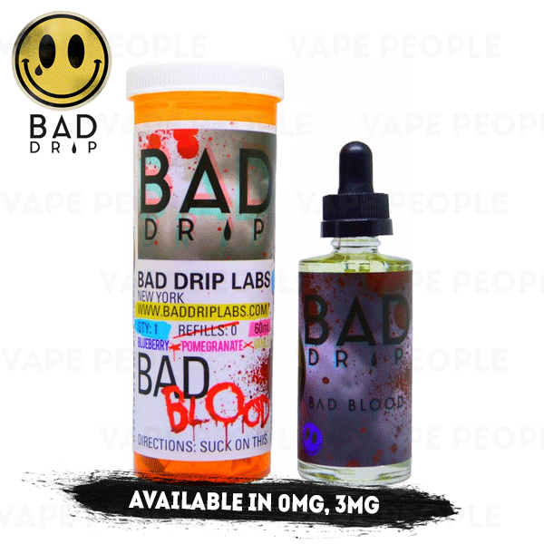 Bad Blood e-liquid by Bad Drip - 50ml Short Fill