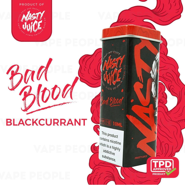 Bad Blood e-liquid by Nasty Juice - 10ml, 50ml - Best E Liquids