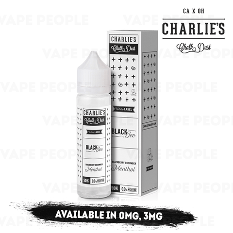Image result for BLACK ICE 50ML SHORT FILL ELIQUID BY CHARLIES CHALK DUST