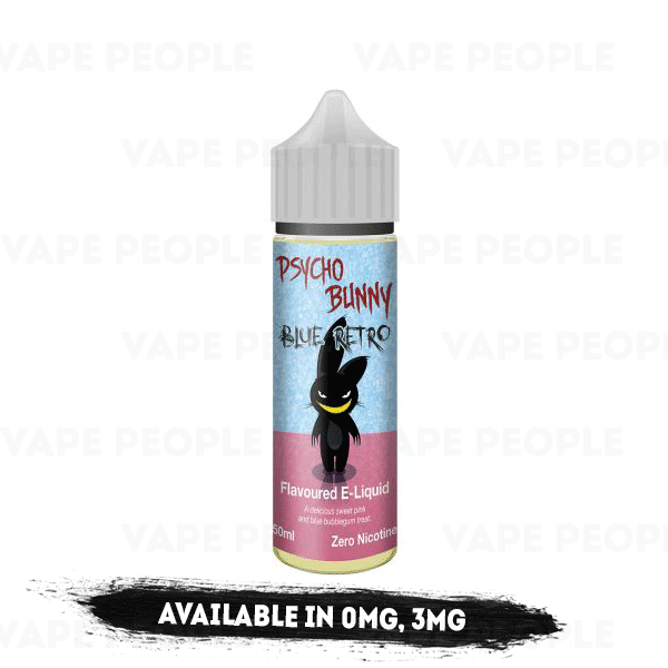 Blue Retro e-liquid by Psycho Bunny - 50ml Short Fill - Best E Liquids