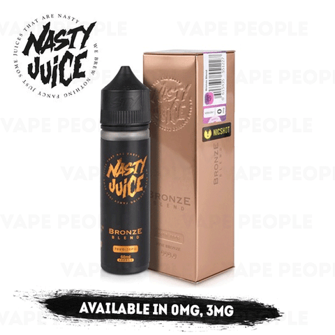 Bronze Blend vape liquid by Nasty Juice Tobacco Series - 50ml Short Fill - eJuice