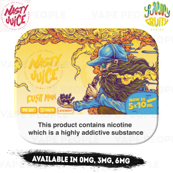 Cush Man vape liquid by Nasty Juice - 5 x 10ml - Buy UK