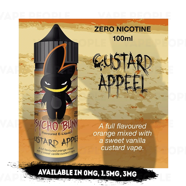 Custard Appeal vape liquid by Psycho Bunny - 100ml Short Fill