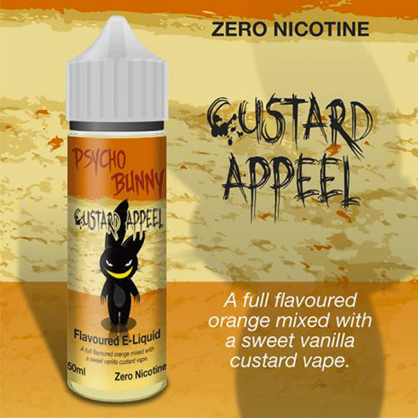 Custard Appeel vape liquid by Psycho Bunny - 50ml Short Fill - Buy UK