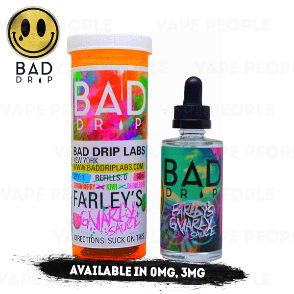 Farley's Gnarly Sauce e-liquid by Bad Drip - 50ml Short Fill