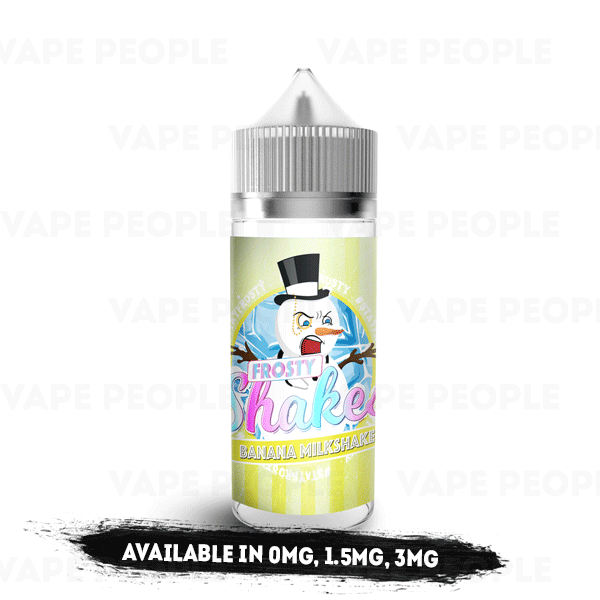 Frosty Shakes - Banana Milkshake e-liquid by Dr Frost - 100ml Short Fill - Best E Liquids