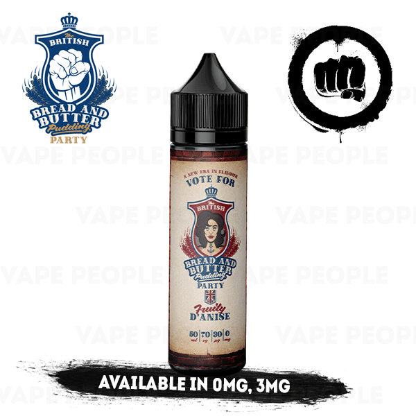 Fruity D'anise e-liquid by BBBPP - 50ml Short Fill - Best E Liquids