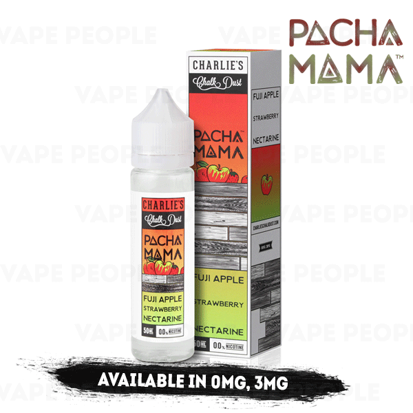 Fuji Apple Strawberry Nectarine vape liquid by Pacha Mama - 50ml Short Fill - Best E Liquids