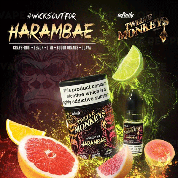 Harambae vape liquid by Twelve Monkeys - 3 x 10ml - Buy UK