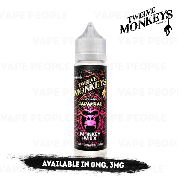 Harambae vape liquid by Twelve Monkeys Mix Series - 50ml Short Fill - Best E Liquids