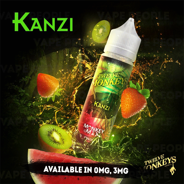 Kanzi vape liquid by Twelve Monkeys Mix Series - 50ml Short Fill - Buy UK