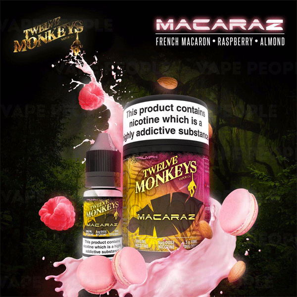 Macaraz e-liquid by Twelve Monkeys - 10ml, 30ml - Best E Liquids