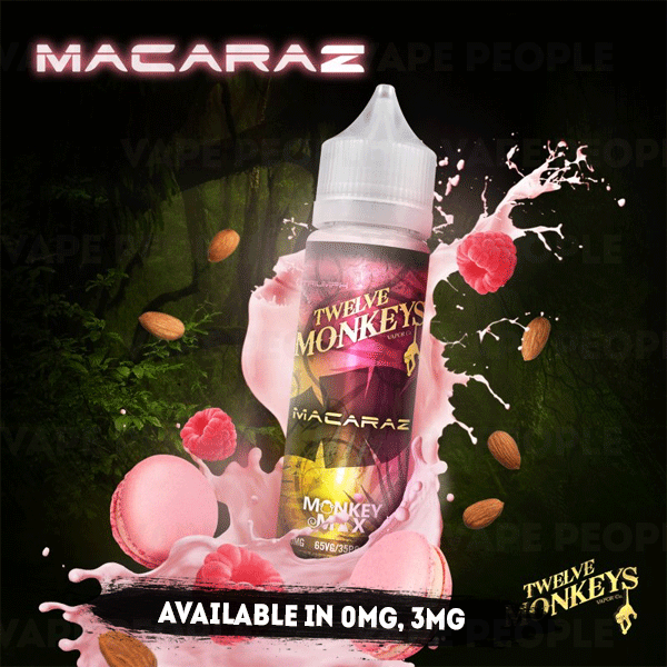 Macaraz vape liquid by Twelve Monkeys Mix Series - 50ml Short Fill - Best E Liquids