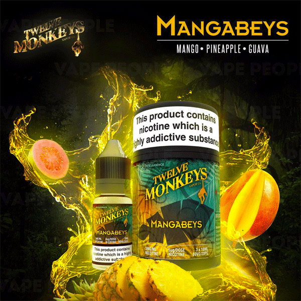 Mangabeys e-liquid by Twelve Monkeys - 10ml, 30ml - Best E Liquids