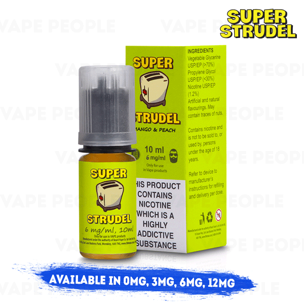 Mango Peach vape liquid by Super Strudel - 10ml - Best E Liquids