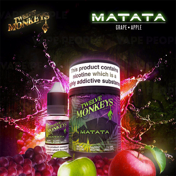 Matata e-liquid by Twelve Monkeys - 10ml, 30ml - Best E Liquids