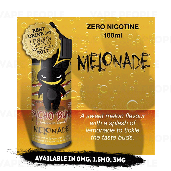 Melonade vape liquid by Psycho Bunny - 100ml Short Fill