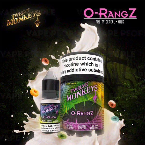 O-Rangz e-liquid by Twelve Monkeys - 10ml, 30ml - Best E Liquids