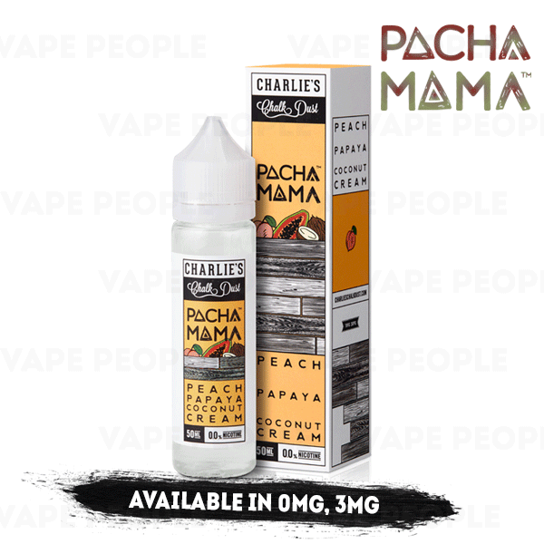 Peach Papaya Coconut Cream vape liquid by Pacha Mama - 50ml Short Fill - Best E Liquids