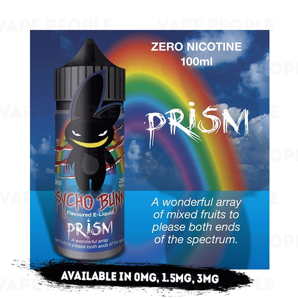Prism vape liquid by Psycho Bunny - 100ml Short Fill