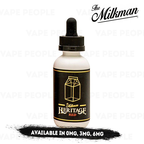 Red vape liquid by The Milkman Heritage - 50ml Short Fill